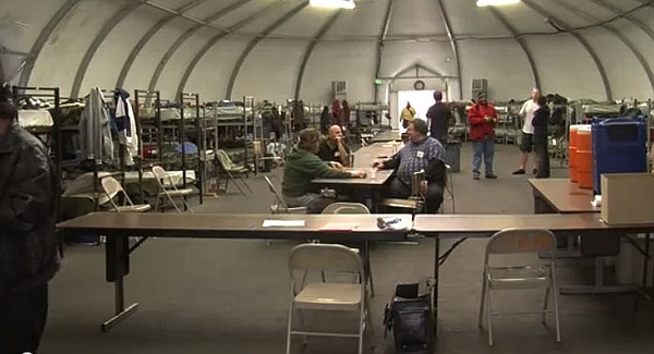 Nearly 150 veterans call this winter shelter home during the months of Decemb...