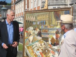 Rupert Maas is impressed by a large painting of a fishmongers.