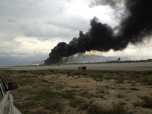 Cargo plane crash at Bagram Airfield on April 29, 2013.