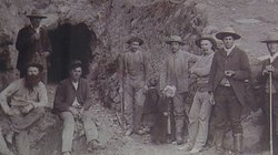 After Fred Coleman discovered gold in 1869, many prospectors (pictured) came to Julian to work in the mines.