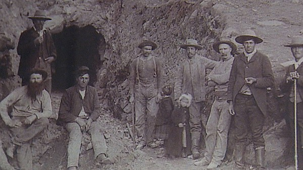After Fred Coleman discovered gold in 1869, many prospectors (pictured) came ...