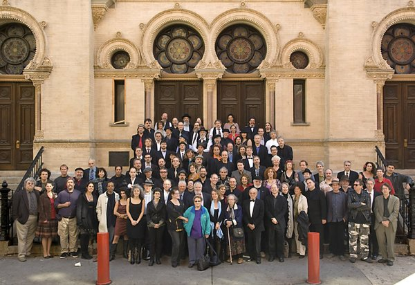 More than 100 klezmer musicians came together for a photo...