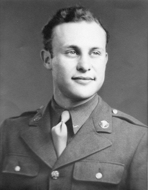 Sy Brenner in his military uniform in 1943.