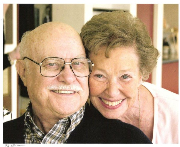 Sy Brenner, pictured here with his wife of 61 years.