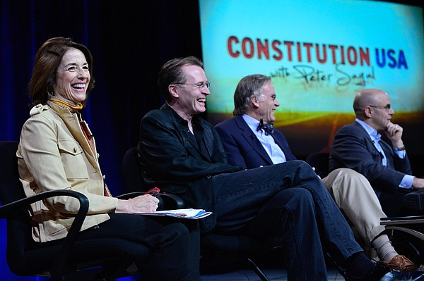 During PBS' CONSTITUTION USA with Peter Sagal session at the Television Criti...