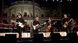 Los Lobos plays for the audience at the White House at the October 13, 2009 t...