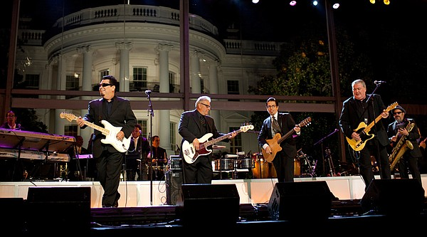 Los Lobos plays for the audience at the White House at th...