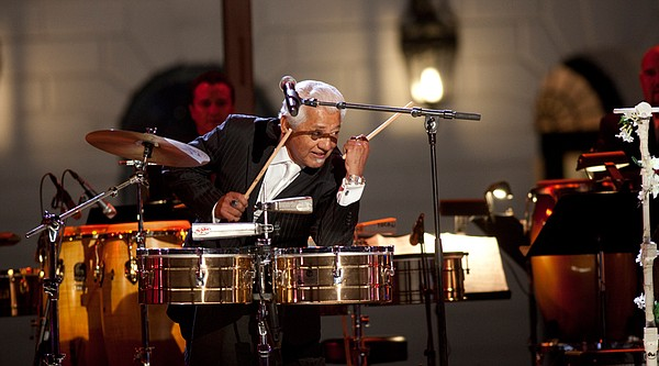 Pete Escovedo plays for the audience at the White House for the October 13, 2...