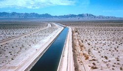 The Colorado River Aqueduct transports water from the Colorado River to Southern California.