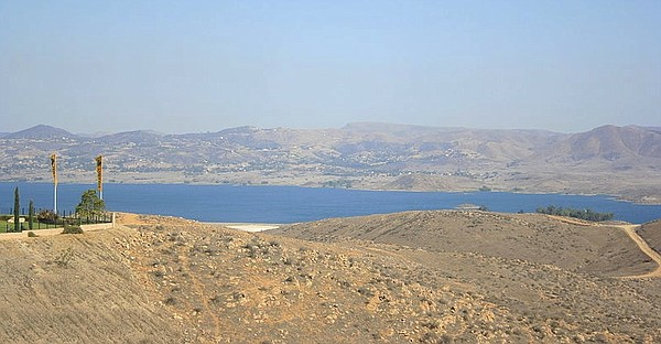 Lake Mathews, located in Riverside County, California, is...