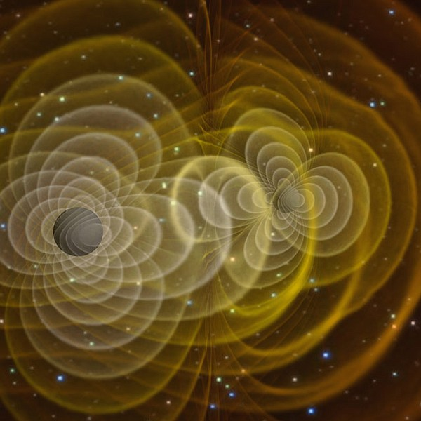 Gravitational waves are caused by objects tens of thousands of times more den...