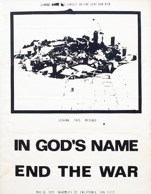 Commemorative poster with George Winne's appeal to end th...