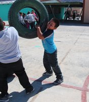 Children play in the schoolyard in Boquillas, Mexico. (Photo by Lorne Matalon)