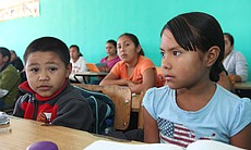 Neida Sandoval Diaz and Adrian Valdez Orosco, elementary school students in Boquillas, Mexico. (Photo by Lorne Matalon)