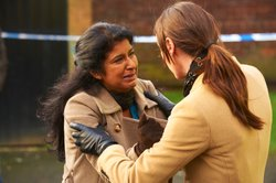 DC Rachel Bailey prevents Yusuf's mother (Nila Aalia) from accessing her son...