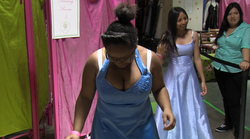 Sequoia Booker finds a prom dress at the Princess Project location in Horton ...