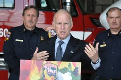 Governor Jerry Brown is warning Californians that climate change will make wi...