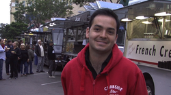 Christian Murcia is the owner of Curbside Bites, which organizes the Thursday food truck market in downtown San Diego.