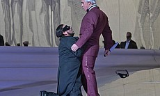 "Dmitri Hvorostovsky as Count Anckarström and Marcelo Álvarez as Gustavo III in Verdi's ""Un Ballo in Maschera."""