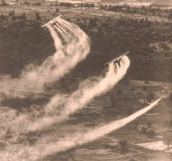 Agent Orange crop-dusting.