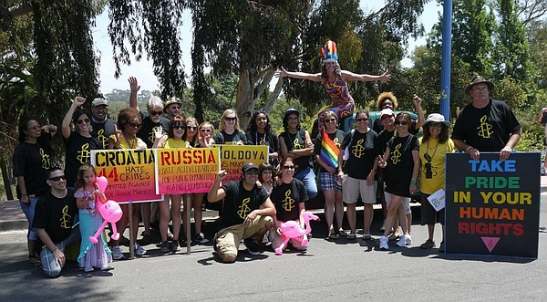 Amnesty International San Diego at the end of Pride Parad...