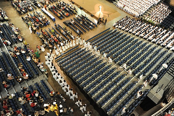 Aerial view of the Kamehameha Schools Song Contest as it ...