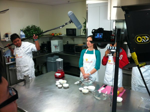 Professor Diekman hopes the Cooking It Up crew will conti...