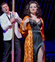 "Piotr Beczala as the Duke and Oksana Volkova as Maddalena in Verdi's ""Rigoletto."""