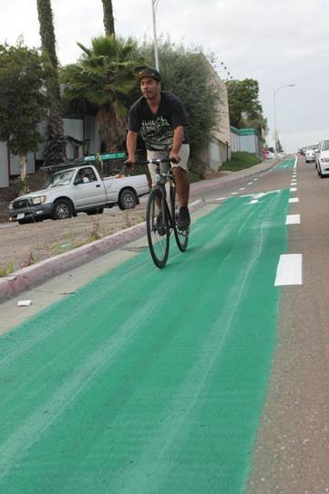 The city painted the bike lane along 54th Street at Unive...