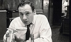 Mel Brooks drinking coffee. The photo was taken by Carl Reiner while the two ...