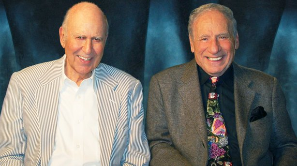 Carl Reiner and Mel Brooks in August 2009.