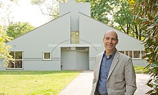 "Host Geoffrey Baer at Philadelphia's Vanna Venturi House, considered by many to be the first ""postmodern"" building."