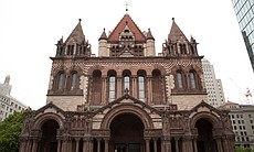 Created by architect H.H. Richardson, Trinity Church was the first example of the Richardsonian Romanesque style, which was later used in churches, city halls and county courthouses across America.