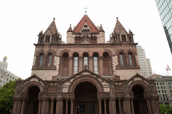 Created by architect H.H. Richardson, Trinity Church was ...