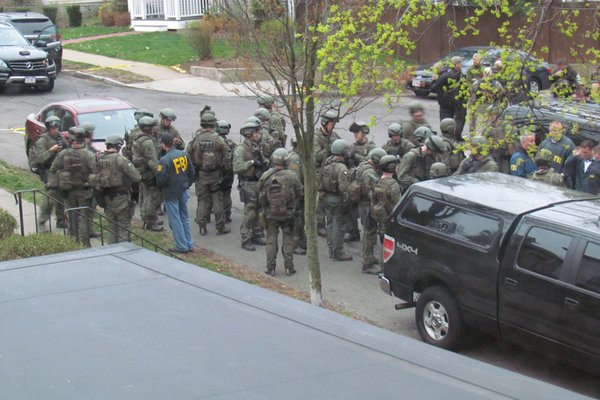 FBI agents in Watertown, Mass.