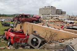 The 2011 Joplin tornado was a EF5 multiple-vortex tornado that struck Joplin, Missouri, in the late afternoon of Sunday, May 22, 2011, causing catastrophic destruction.
