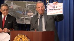 """Mayor Filner says """"homeless veteran"""" should not be in our vocabulary."""