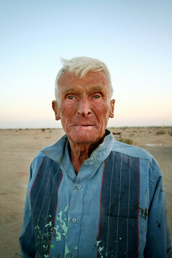 Leonard Knight in 2008, when he was still living at Salvation Mountain.