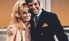 "Songstress Dusty Springfield and composer Burt Bacharach together perform ""A ..."