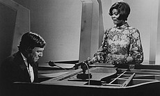 Burt Bacharach with Dionne Warwick, who had a s... (26702)