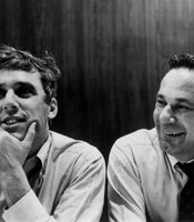 Burt Bacharach with lyricist Hal David.