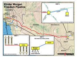 This map shows the now-shelved plan for the Freedom Pipeline.