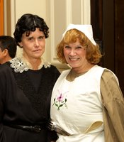 KPBS Producers Club members Kathy Bettles and Julie Hatch as O Brien and Mrs Patmore.