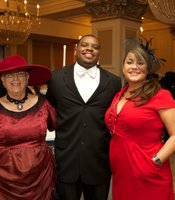 KPBS Celebrates Gala Guests:  Sandy Knight with Chris and Amber Fields.