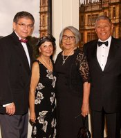 Gala guests Bill and Christina Molina with Shirley and Hank Murphy of the Sycuan Band of the Kumeyaay Nation.