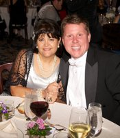 Gala guests Heidi Watson and Todd Jackson, CEO of Jackson Design and Remodeling.