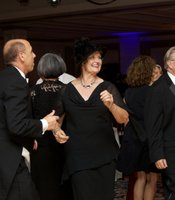 Gala guests enjoyed live music and dancing after dinner.