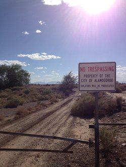 The regional landfill near Alamogordo, N.M. that may be E.T.'s final resting place.