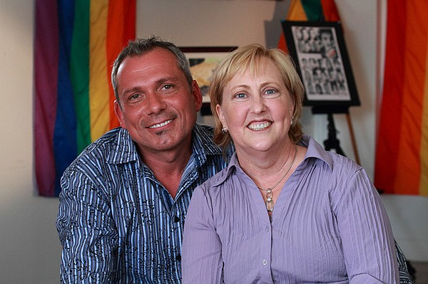 Local Heroes for 2013 LGBT Pride Month, Max Disposti and Carolyn Bolton.