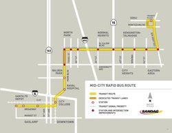 The Mid-City rapid bus line will connect San Diego State University to downto...